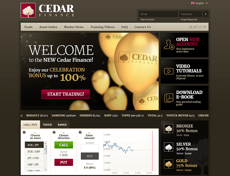 cedar binary options reviews uk