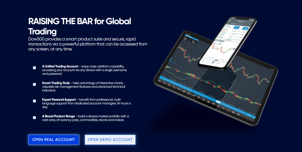 Dow500 trading software
